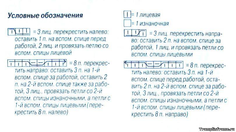 Вязание спицами условные в журнале сабрина