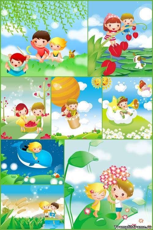 Картинка мальчика и девочки для детей